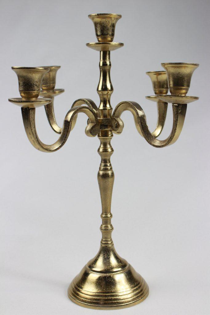Kerzenhalter 5-armig gold Dubai